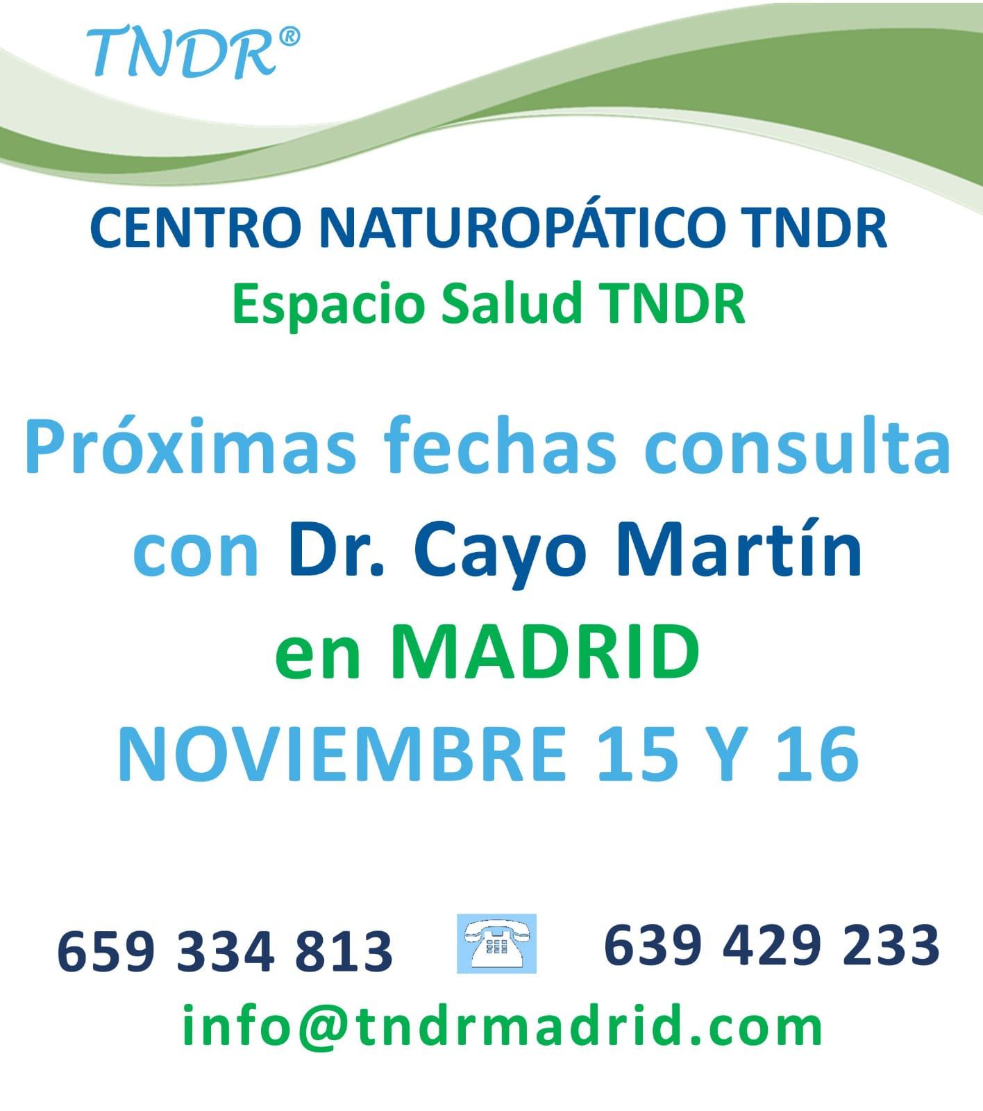 consulta dctor Cayo Martín centro TNDR espacio salud